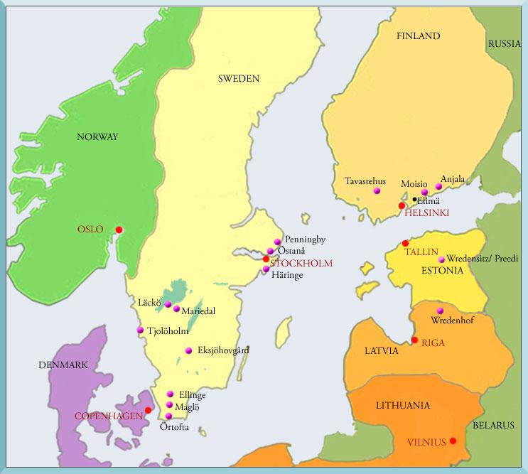 slott i sverige karta Sverigekarta slott i sverige karta